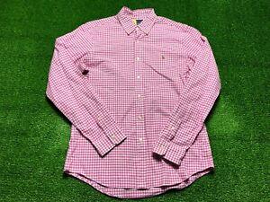 Ralph Lauren Slim Fit Stretch Oxford Men's Long Sleeve Button Front Shirt Large