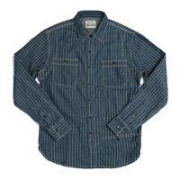 NON STOCK Men Women's Vintage Workwear Denim Shirt WABASH VENT HOLE WORKSHIRT