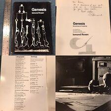 Vtg Art Gallery Exhibition Book Genesis Ismond Rosen Signed 1974 32 Pages