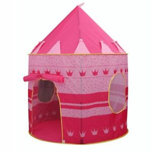 Play Tent Portable Foldable Tipi Prince Folding Tent Children Boy Cubby Kid Gift