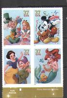 USA 2005 Disney/Alice/Ariel/Mickey Mouse/Snow White/Pluto/Films 4v blk (n16029)