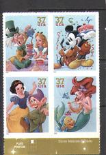 EE. UU. 2005 Disney/Alice/Ariel/Mickey Mouse/Nieve Blanca/Plutón/películas 4v Negro (n16029)