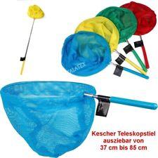 Kinder Kescher Teleskopstiel Fangnetz Teichkescher Strand Insekten Angeln TOP