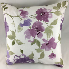 Print of Lilac & Purple Anemone Flowers Reversible Evans Lichfield Cushion Cover