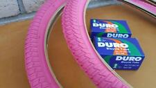 """New PAIR of PINK 20"""" BMX Girl's Bicycle Tires & Tubes 20X1.75 also fits 20x1.95"""