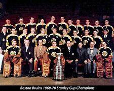 BOSTON BRUINS 1969-70 STANLEY CUP CHAMPIONS NHL HOCKEY 8X10 TEAM PHOTO