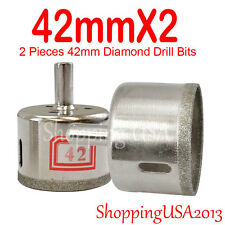 2x 42mm Diamond Drill Bits Hole Saw Cutter Metal Tool Glass Marble Granite Tile*