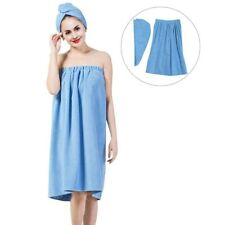 Fashion Women Girls Shower Body Spa Bath Wrap Towel Bathrobe + Drying Cap CA