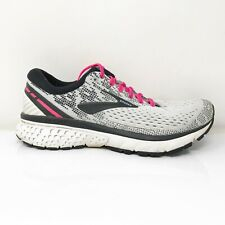 Brooks Womens Ghost 11 1202771B192 Gray Black Running Shoes Lace Up Size 6.5 B