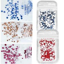 400pcs/Bag Crystal Rhinestones Nail Art Glitter Flatback Gems 3D Tips Decoration