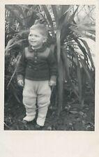 Baby boy photo postcard