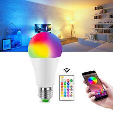 E27 Rgb red, green, Azul E Branco Lâmpada Led Luz Color Change lâmpadas Regulável + Controle Remoto
