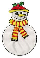 Patch écusson patche bonhomme neige Noël brodé thermocollant hotfix