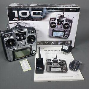Futaba 10C RC Airplane/Helicopter Transmitter w/ TM-10 Module, Manual & Box