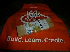 Home Depot Kids Workshop Pencil Box Wood Dot It Your Self Kit VG !