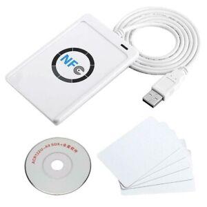 ACR122U Kontaktloser RFID Reader & Writer Leser Schreiber NFC-Reader 5X IC