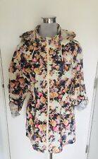 Brave Soul Floral Fishtail Rain Mac With Hood