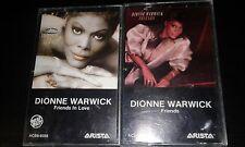 DIONNE WARWICK 2xCassette Tape Friends/Friends In Love POP R&B That's What Frien