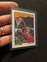Michael Jordan 1991 NBA Hoops #536 BASKETBALL ICONIC Chicago Bulls NR INVEST