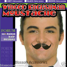 A290 Winged English Man Moustache Butler Villain Disguise Fake Mustache