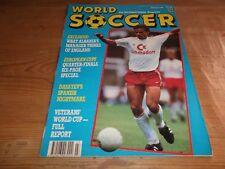 Football Magazine World Soccer March 1989 Dasayev Albania France IFK Gothenburg