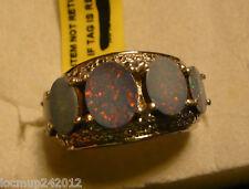 Boulder Opal, Tanzanite & Diamond Ring Sz. 6  15 gems 4.65tcw MSRP$899