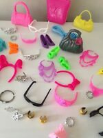 Barbie / Sindy Accessories . Barbie Crown / Glasses / Bag / Shoes. At Least 9 !!
