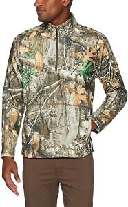 Under Armour ColdGear Off Grid RealTree Edge Mens 1/2 Zip Camo Sweater Size S