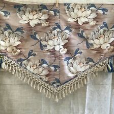 Lovely vintage French Portière Curtain / Valance Dragonfly and Waterlily