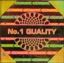 100 Oro Ologramma adesivi etichette OLOGRAFICHE qualità autentica QUADRATO s14-2g da 14 mm