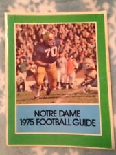 1975 Notre Dame Featuring Joe Montana Yearbook Football Guide 96 Pages EX Cond