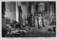 POLITICAL DEATH OF BOGUS CAESAR LIBERTY FREEDOM BY THOMAS NAST HARPER'S WEEKLY