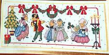 Christmas Scene of Mice Dancing and 2 Cards Counted Cross Stitch Patterns