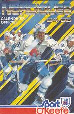 1984-85 QUEBEC NORDIQUES NHL HOCKEY POCKET SCHEDULE - FRENCH
