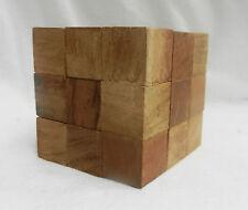 En bois Cube Puzzle-diabolique de crack-Entièrement NEUF dans sa boîte