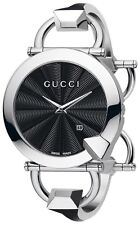 GUCCI YA122502 Chiodo Black Dial 122.5 Series Stainless Steel Women's Watch