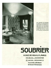 Publicité ancienne meubles Soubrier no  2 1930 issue de magazine