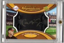 2007 UPPER DECK SWEET SPOT CAL RIPKEN JR LEATHER GLOVE AUTO SP /5 BLACK SSP