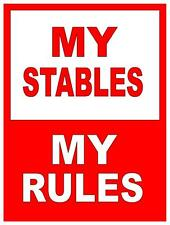 Equestrian Stables Horse Caution Horses Sign   Horses Sign Metal Sign