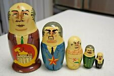 Nesting Dolls Russian Soviet Political Leaders Set of 5 Ussr