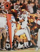Mike Williams Signed Autographed 16X20 Photograph USC TD Blue Ink Vert