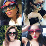 1 x Sunglasses Colorful Oversized Square Luxury Gradient Lens Vintage Women New