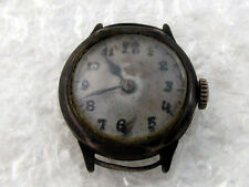 HUBER Antique Swiss Silver Woomen's Watch for Repairing or for Spare Parts