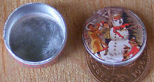 Escala 1:12 vacía Nieve Hombre Galleta Pastel Estaño Casa De Muñecas Accesorio de Cocina Bt17