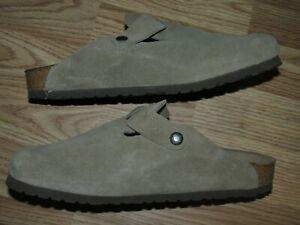 Men's 9 Women's 11 BIRKENSTOCK Mules Slides Suede Leather Great Condition EUR 42