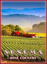 Sonoma California Wine Country United States Travel Advertisement Poster