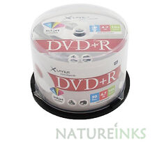 50 Xlayer DVD + R Imprimible Blanco 16x Discos en Blanco 4.7GB Cakebox Para Grabador De Dvd