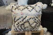 Moroccan Vintage Handira Retro Pillow Berber Wedding Blanket Sequins Handmade
