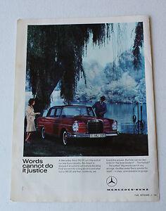 Vintage Original!! A4 Print Advertising Mercedes 300E 1960's [C10]
