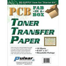 PCB Fab in a Box Toner Transfer Paper